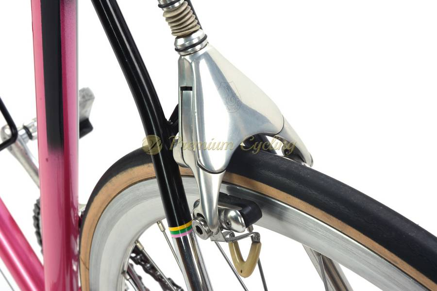 Gianni Motta Vintage bicycle for sale campagnolo c record delta pink personal brevetato 1980s