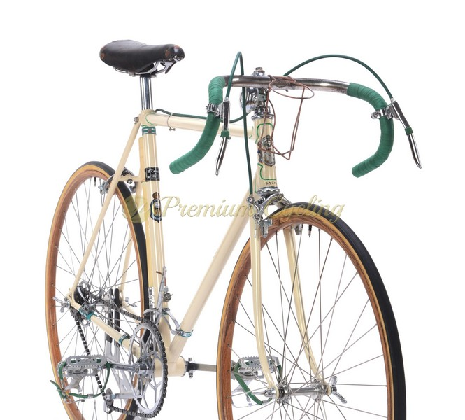 GIRARDENGO Campionissimo by Maino 1930s, Vittoria Margheritta gears, wooden rims, Eroica vintage steel bike