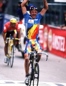 J.MUSEEUW, winning WC LUGANO 1996
