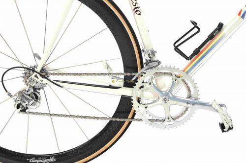 PINARELLO Banesto by Dario Pegoretti, 1994-95, Campagnolo Record 8s Bora wheels, vintage steel bike