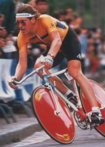 J.Pedersen in yellow at the TdF 1986