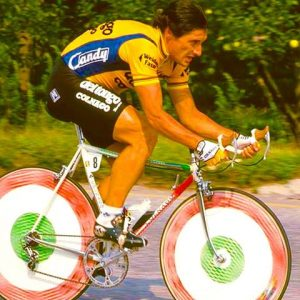 G.Saronni (Del Tongo) during time trial