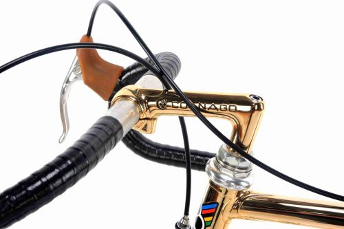 1978 COLNAGO Mexico Oro Gold plated, Campagnolo Super Record, Eroica vintage collectible bike
