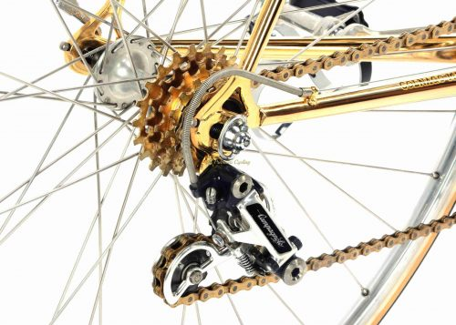 1978 COLNAGO Mexico Oro Gold plated, Campagnolo Super Record, Eroica vintage collectible bike