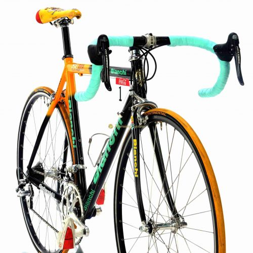 BIANCHI XL EV2 Pantani Mercatone Uno 2000 Campagnolo Record 10s, vintage collectible bike