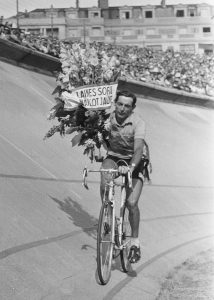 Fausto Coppi after winning Tour de France 1952