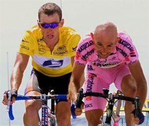 M.Pantani with L.A. at the Tour de France 2000