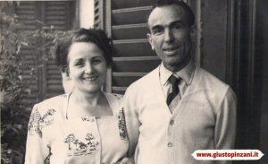 Giusto Pinzani with his wife Italia Pesci