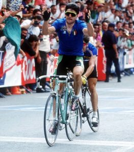 G.Bugno winning his second consecutive world championship title