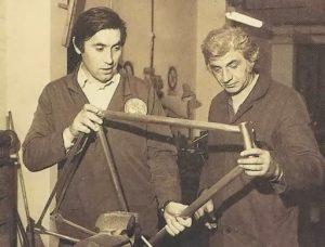 E.Merckx and U.De Rosa in mid 1970s