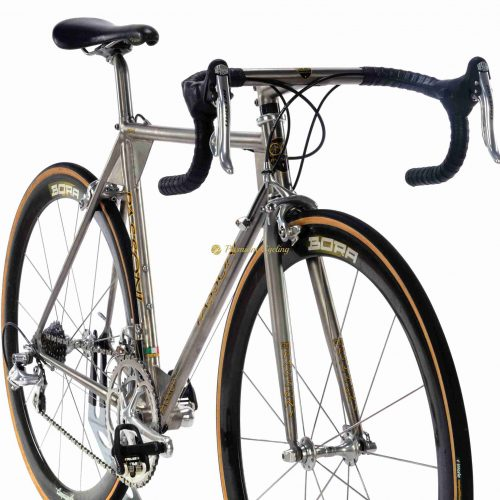 1990s PASSONI Top Titanio Aero, Campagnolo Record Titanium, vintage collectible bicycle by Premium Cycling