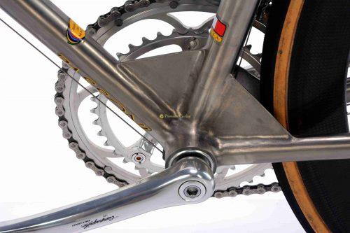 1990s PASSONI Top Titanio Aero, Campagnolo Record Titanium, vintage collectible bicycle by Premium Cycling