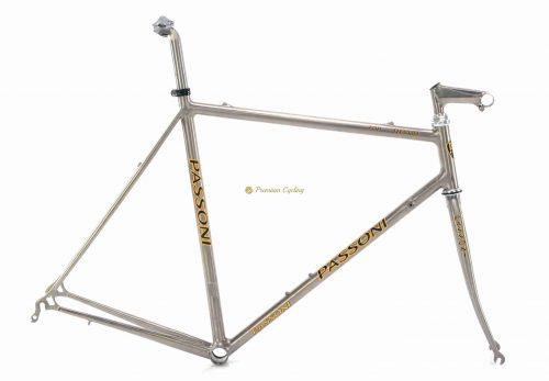 PASSONI Top Titanio late 1990s frameset, vintage collectible titanium bike by Premium Cycling