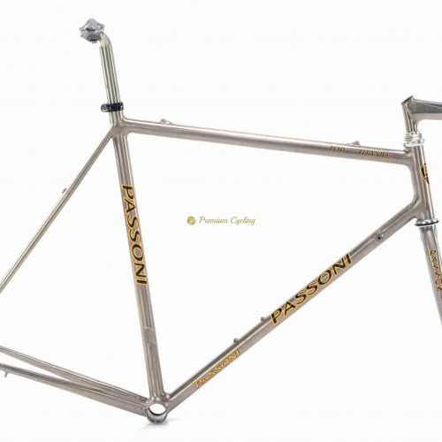 PASSONI Top Titanio late 1990s frameset, vintage collectible titanium bike by Premium Cycling
