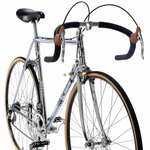 1982 ROSSIN Strada SL Chrome, Campagnolo Super Record, Eroica vintage steel collectible bike by Premium Cycling
