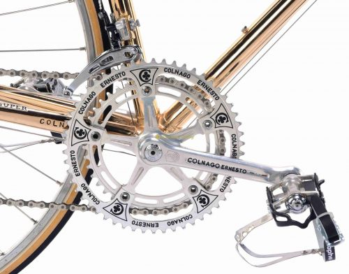 1981 COLNAGO Super Oro Campagnolo Super Record new old stock, vintage steel Eroica bike by Premium Cycling