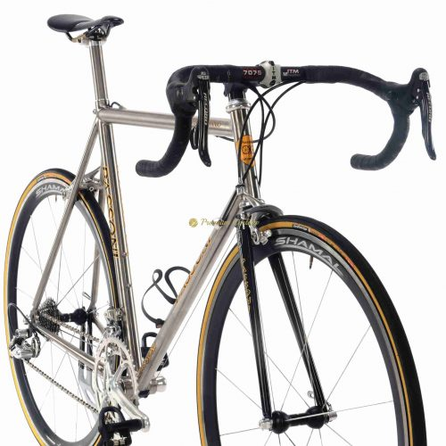 PASSONI Top Titanio, Campagnolo Record 10s 2000, titanium vintage collectible bike by Premium Cycling