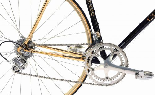 1990s COLNAGO Master Gold Oro Campagnolo C Record Delta, luxury vintage steel collectible bike by Premium Cyclig