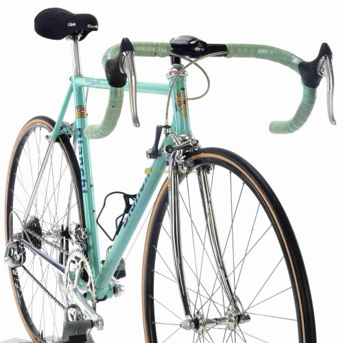Early 1990s BIANCHI EL Reparto Corse Shimano Dura Ace 7400, vinatge steel racing bike by Premium Cycling