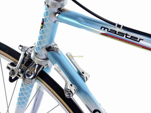 1986-87 COLNAGO Master Retinato Blue, Campagnolo C Record 2nd gen, Cobalto brakes, Eroica vintage szeel collectible bike by Premium Cycling