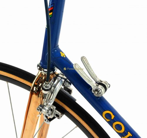 1980-81 COLNAGO Mexico TT Aerodinamica Oro 24k gold plated, 26-28 wheels, vintage steel time trial racing bike by Premium Cycling