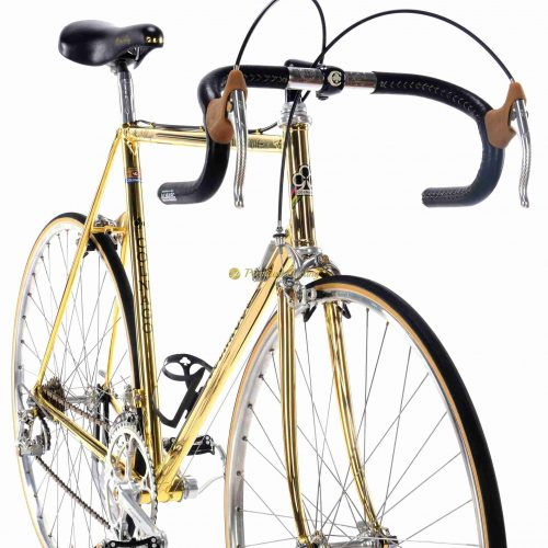 COLNAGO Arabesque Oro 24k gold plated, Campagnolo 50th Anniversay groupset 1985, luxury vintage steel collectible bike by Premium Cycling