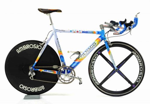 COLNAGO TT Mapei, authentic time trial bike of Luca Scinto Team Mapei 2001, luxury vintage bike by Premium Cycling